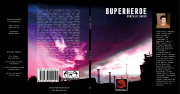 cubierta libro superhéroe