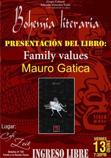 Presentación en Tacna de Family Values de Mauro Gatica