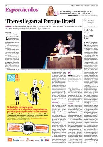 Urlo en El Mercurio de Antofagasta