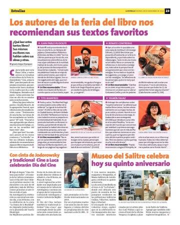 Nota en La Estrella de Antofagasta